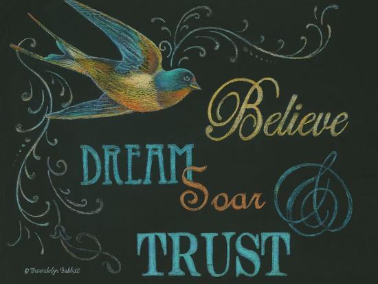 Believe & Bird-Gwendolyn Babbitt-Art Print