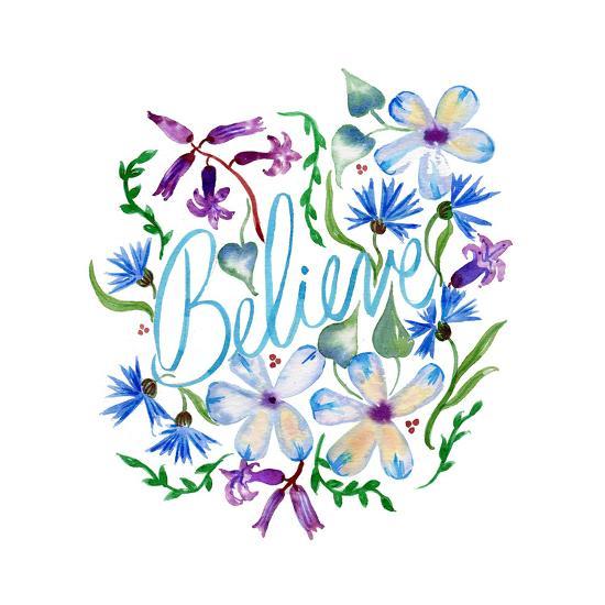 Believe, Enchanted Garden-Esther Bley-Art Print