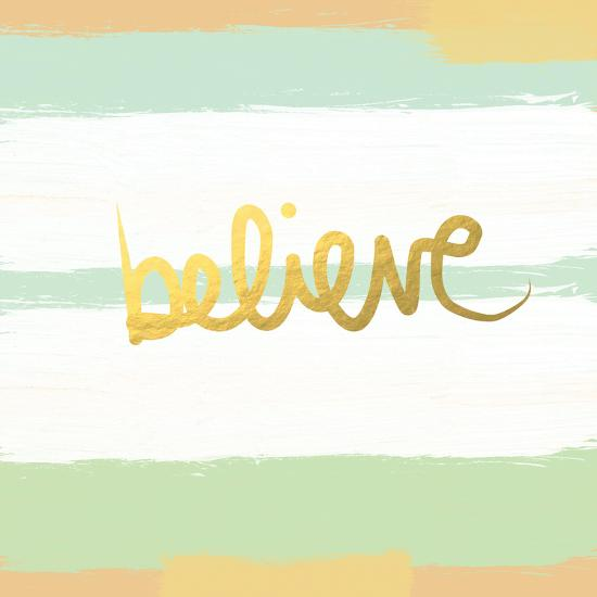Believe Gold-Linda Woods-Premium Giclee Print