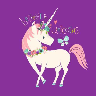 Believe in Unicorns-Heather Rosas-Art Print