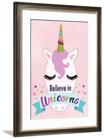 Believe in Unicorns-ND Art-Framed Art Print