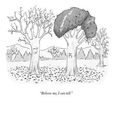 """Believe me, I can tell."" - New Yorker Cartoon-Danny Shanahan-Premium Giclee Print"