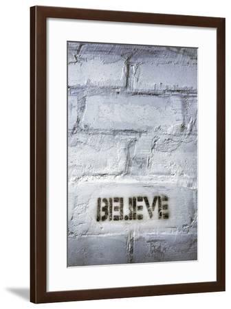 Believe Word-Yury Zap-Framed Photographic Print