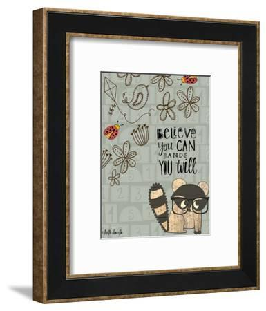 Believe You Can - Raccoon-Katie Doucette-Framed Art Print