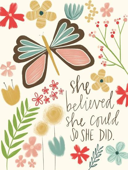 Believed She Could-Katie Doucette-Art Print