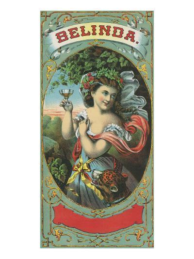 Belinda Brand Tobacco Label-Lantern Press-Art Print