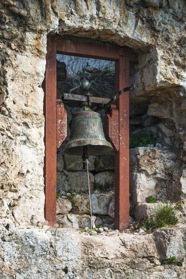 Bell at St. Michael's Fort, Ugljan Island, Dalmatian Coast, Croatia-Russ Bishop-Photographic Print
