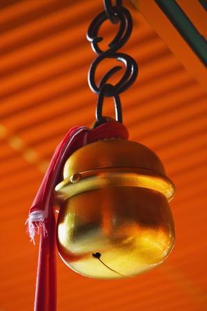 Bell in Fushimi-Inari-Taisha Shrine-Jon Hicks-Photographic Print