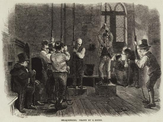 Bell-Ringing-Charles Keene-Giclee Print