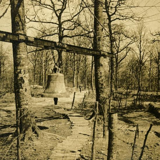 Bell to warn of gas attack, c1914-c1918-Unknown-Photographic Print