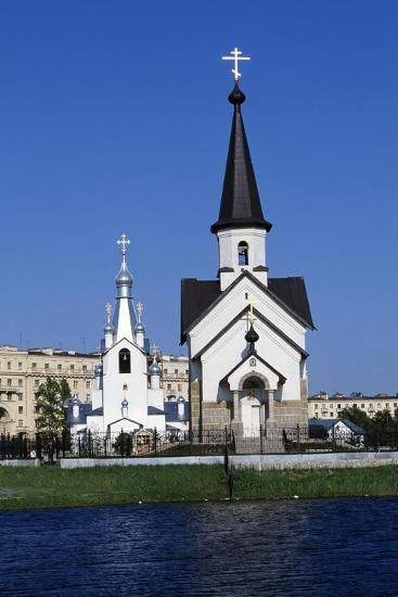 Bell Tower and Church of Religious Complex of St George--Giclee Print