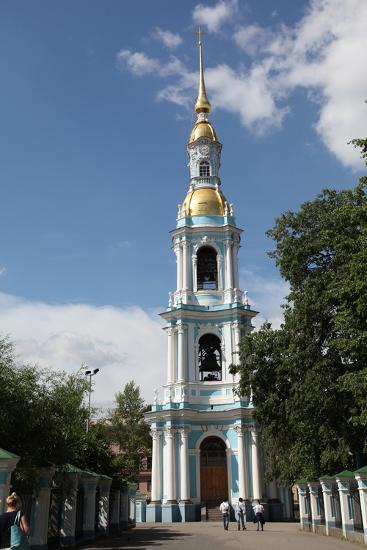 Bell Tower of St Nicholas Naval Cathedral, St Petersburg, Russia, 2011-Sheldon Marshall-Photographic Print