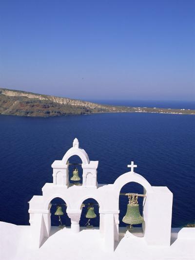 Bell Tower on Christian Church, Oia (Ia), Santorini (Thira), Aegean Sea, Greece-Sergio Pitamitz-Photographic Print