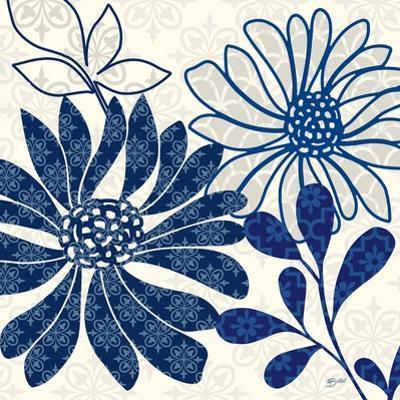 Blue Floralesque 1 by Bella Dos Santos