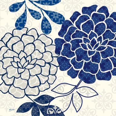 Blue Floralesque 2 by Bella Dos Santos