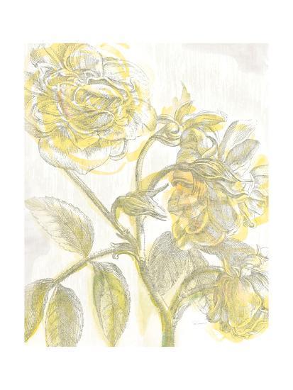 Belle Fleur Yellow I Crop-Sue Schlabach-Premium Giclee Print