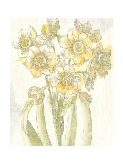 Belle Fleur Yellow IV Crop-Sue Schlabach-Premium Giclee Print