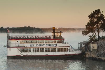 Belle of Hot Spring, Tour Boat at Dawn, Hot Springs, Arkansas, USA-Walter Bibikow-Photographic Print