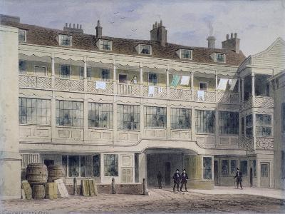 Belle Sauvage Yard, Ludgate Hill, London, C1850-Thomas Hosmer Shepherd-Giclee Print