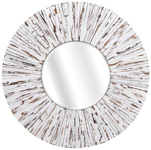 Belle White Rustic Mirror