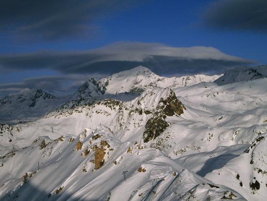 Bellecote Glacier, La Plagne, Savoy, France-Richard Nebesky-Photographic Print
