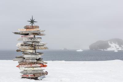 Bellingshausen (Russian) or Frei (Chilean) Base, South Shetland Island Group, Antarctica-Michael Nolan-Photographic Print