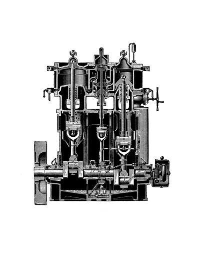 Bellis And Morcom Steam Engine-Mark Sykes-Giclee Print