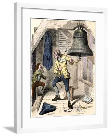 Bellman Told to Ring the Liberty Bell to Announce the Declaration of Independence, c.1776--Framed Giclee Print