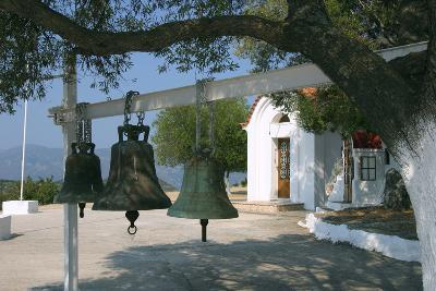 Bells from Old Bell Tower, Monastery of Agrilion, Kefalonia, Greece-Peter Thompson-Photographic Print