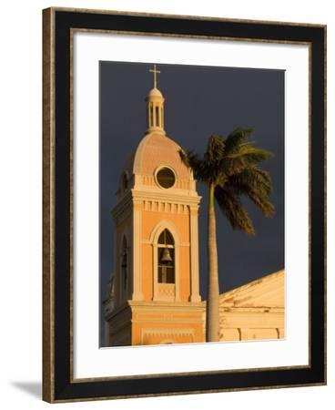 Belltower of Cathedral at Parque Colon, Granada, Nicaragua-Margie Politzer-Framed Photographic Print