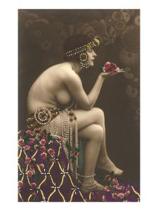 Belly Dancer with Roses