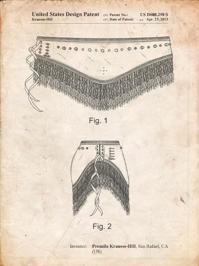 Belly Dancing Belt-Cole Borders-Art Print