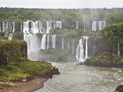 Below Normal Amount of Water Falling at the Famous Iguacu Falls-Mike Theiss-Photographic Print