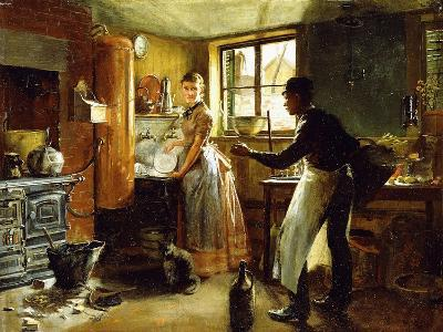 Below Stairs, 1885-Frederick Juengling-Giclee Print