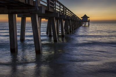 Below the Pier at Twilight, Naples, Florida, Usa-Brian Jannsen-Photographic Print