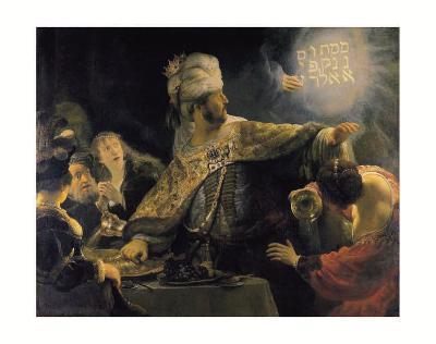 Belshazzar's Feast-Rembrandt van Rijn-Art Print