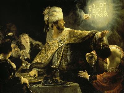 Belshazzar's Feast-Rembrandt van Rijn-Giclee Print