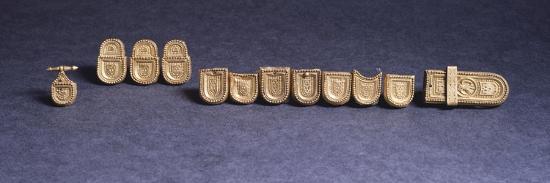 Belt's Ornament. Goldsmith's Art, Longobard Civilization--Giclee Print