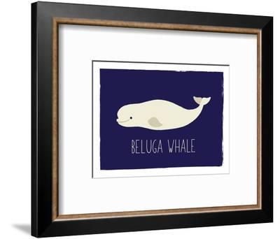 Beluga Whale-Kindred Sol Collective-Framed Art Print