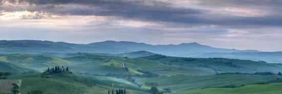 Belvedere at Dawn, Valle De Orcia, Tuscany, Italy-Nadia Isakova-Photographic Print