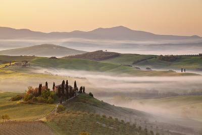 Belvedere Farm at Sunsise, Orcia Valley,Tuscany,Italy.-ClickAlps-Photographic Print