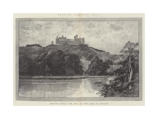 Belvoir Castle, the Seat of the Duke of Rutland-Charles Auguste Loye-Giclee Print