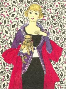 Bemused Lady with Cairns Terrier