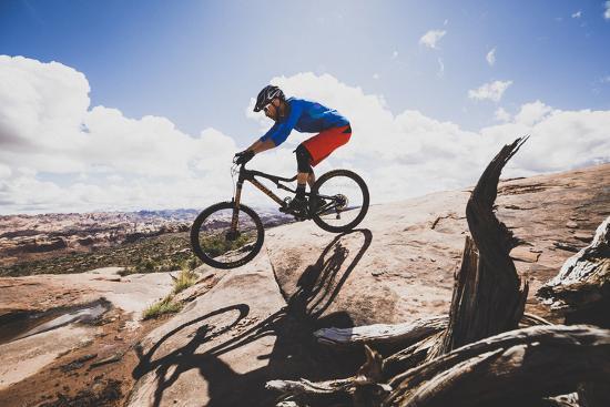 Ben Duke Mountain Biking Captain Ahab Trail, Moab, Utah-Louis Arevalo-Photographic Print