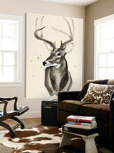 Watercolor Deer Head 3 by Ben Gordon
