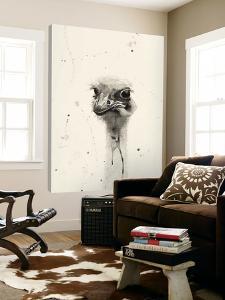 Watercolor Ostrich 2 by Ben Gordon