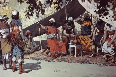 Ben-Hadad and the Kings Drinking in the Tent-James Jacques Joseph Tissot-Giclee Print