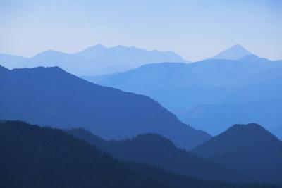 A Hazy View East from Hyalite Peak in Summer Caused by Smoke from Area Forest Fires in Montana