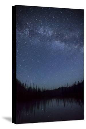 Milky Way and Stars over Upper Bernard Lake in the Seven Devil Mountains in Central Idaho