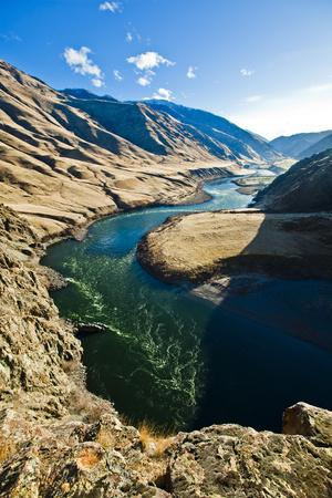 The Snake River, as Seen from Suicide Point at Hells Canyon in Idaho